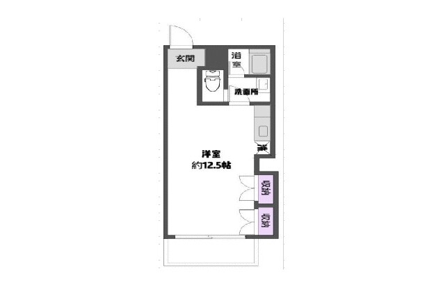 1R Apartment to Buy in Chiba-shi Chuo-ku Floorplan
