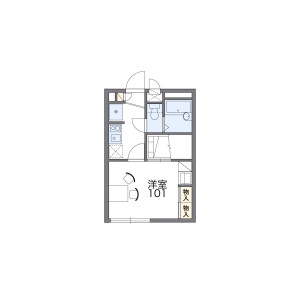 1K Apartment in Onaricho - Saitama-shi Omiya-ku Floorplan