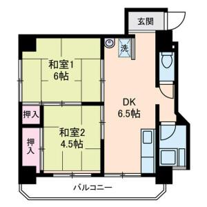 2DK 맨션 in Tabatashimmachi - Kita-ku Floorplan