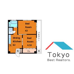 2DK Mansion in Sendagaya - Shibuya-ku Floorplan