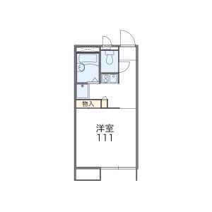 1K Apartment in Zenkojimachi - Kofu-shi Floorplan