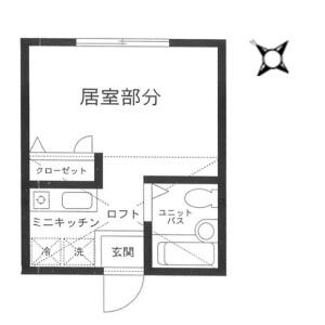 1R Apartment in Shikimidai - Yokohama-shi Asahi-ku Floorplan