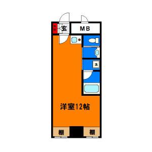 1R Mansion in Shimmeicho - Chiba-shi Chuo-ku Floorplan