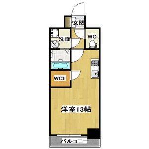 1K Mansion in Nippombashi - Osaka-shi Naniwa-ku Floorplan