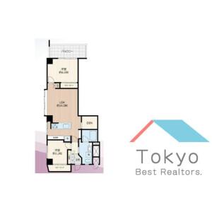 中野區東中野-2SLDK公寓大廈 房間格局