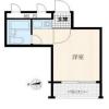1R Apartment to Buy in Shinjuku-ku Floorplan