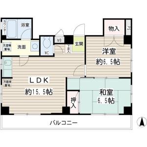 2LDK Mansion in Minamioi - Shinagawa-ku Floorplan