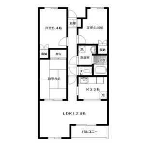 3LDK Mansion in Teradamachi - Hachioji-shi Floorplan
