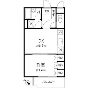 1DK Mansion in Sendagaya - Shibuya-ku Floorplan