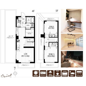 2LDK {building type} in Mita - Minato-ku Floorplan