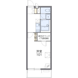1K Apartment in Funato - Kashiwa-shi Floorplan