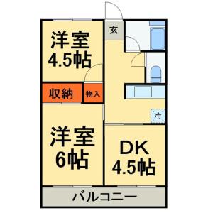 3K Apartment in Higashihiraga - Matsudo-shi Floorplan