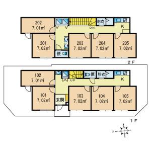 VivoKAMEARI - Guest House in Katsushika-ku Floorplan
