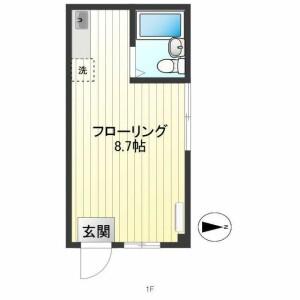 1R Mansion in Nogata - Nakano-ku Floorplan