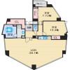 2LDK Apartment to Rent in Toyonaka-shi Floorplan