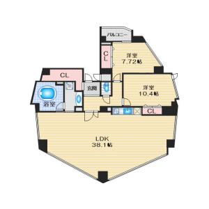 2LDK Mansion in Sakuranocho - Toyonaka-shi Floorplan