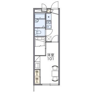 名古屋市天白區植田山-1K公寓 房間格局