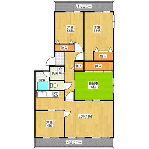 4LDK Mansion in Kubocho - Nishinomiya-shi Floorplan