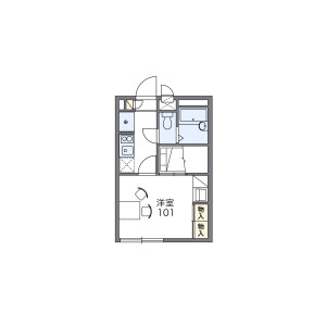 1K Apartment in Kisogawacho kuroda - Ichinomiya-shi Floorplan