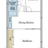2DK Apartment to Buy in Setagaya-ku Floorplan