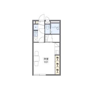 1K Apartment in Oguracho - Chiba-shi Wakaba-ku Floorplan