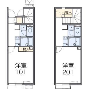 1K Apartment in 中台元町 - Kawagoe-shi Floorplan