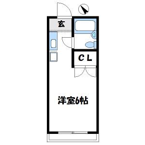 1K Mansion in Miyashimohoncho - Sagamihara-shi Chuo-ku Floorplan