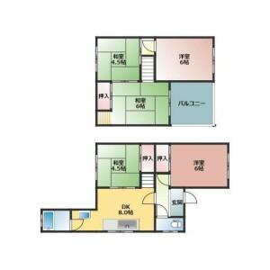 5DK {building type} in Nasuzukuri - Hirakata-shi Floorplan