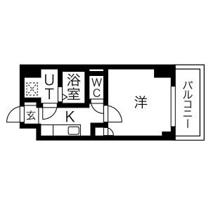 1K Mansion in Tojocho - Osaka-shi Tennoji-ku Floorplan
