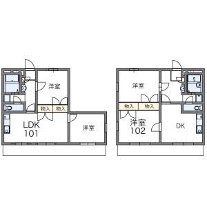 2DK Apartment in Seta - Setagaya-ku Floorplan