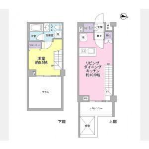 1LDK Mansion in Tsurumaki - Setagaya-ku Floorplan