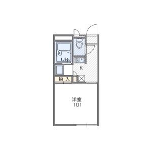 1K Apartment in Fukuine takaharacho - Kyoto-shi Higashiyama-ku Floorplan