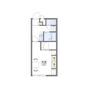 1K Mansion in Higashiobase - Osaka-shi Higashinari-ku Floorplan