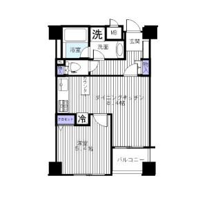 1DK Mansion in Daikanyamacho - Shibuya-ku Floorplan