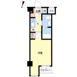 1K Mansion in Enokicho - Shinjuku-ku Floorplan