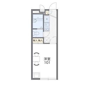 1K Mansion in Hayabuchi - Yokohama-shi Tsuzuki-ku Floorplan