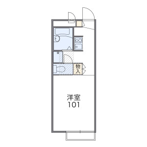 1K Apartment in Shibasaki - Chofu-shi Floorplan
