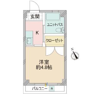 1K {building type} in Nishiwaseda(sonota) - Shinjuku-ku Floorplan