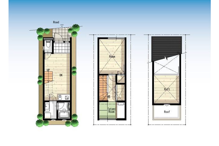 2DK House to Rent in Taito-ku Floorplan