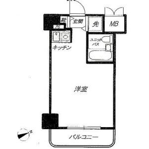 1R Mansion in Ikebukuro (2-4-chome) - Toshima-ku Floorplan