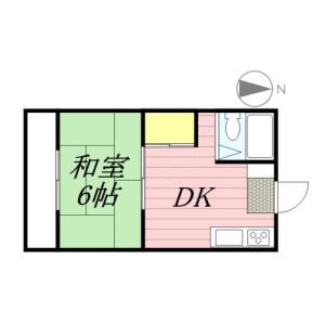 國分寺市富士本-1DK公寓 房間格局