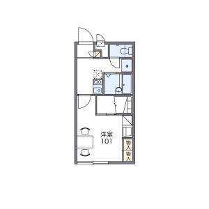1K Apartment in Daimondori - Otsu-shi Floorplan