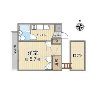 1K Apartment in Naritahigashi - Suginami-ku Floorplan
