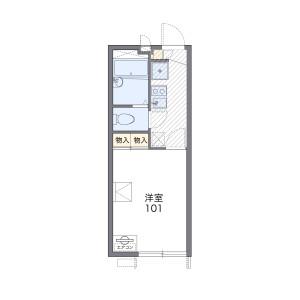 1K Apartment in Shinoharaobanoyamacho - Kobe-shi Nada-ku Floorplan
