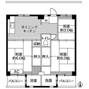 3DK Mansion in Kobikimachi - Hachioji-shi Floorplan