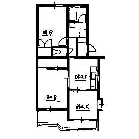 3DK Mansion in Kamisaginomiya - Nakano-ku Floorplan