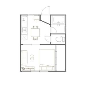 1DK Mansion in Wakamiyacho - Shinjuku-ku Floorplan