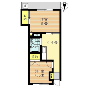 大田区中馬込-2K公寓大厦 楼层布局