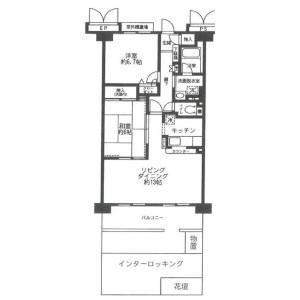 2LDK Mansion in Tozuka - Kawaguchi-shi Floorplan