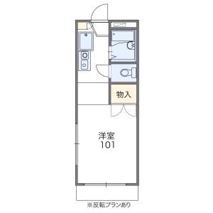 1K Apartment in Mihashi - Saitama-shi Omiya-ku Floorplan